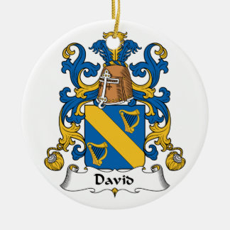 David Family Crest Christmas Ornaments
