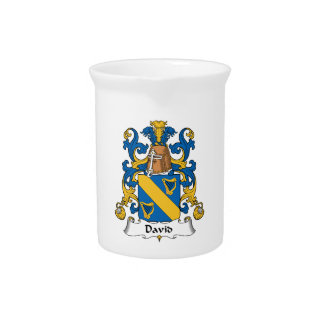 David Family Crest Drink Pitchers