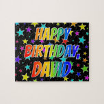 "[ Thumbnail: ""David"" First Name, Fun ""Happy Birthday"" Jigsaw Puzzle ]"