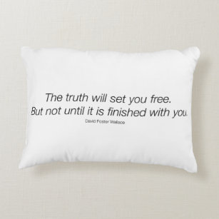 David Foster Wallace Quote Pillow! Decorative Pillow