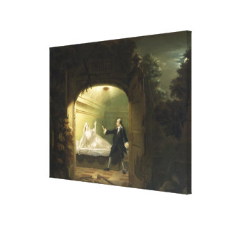 David Garrick  (1717-79) and George Anne Bellamy ( Gallery Wrapped Canvas