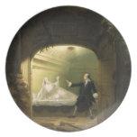 David Garrick  (1717-79) and George Anne Bellamy ( Dinner Plate