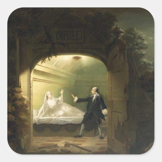 David Garrick  (1717-79) and George Anne Bellamy ( Square Sticker