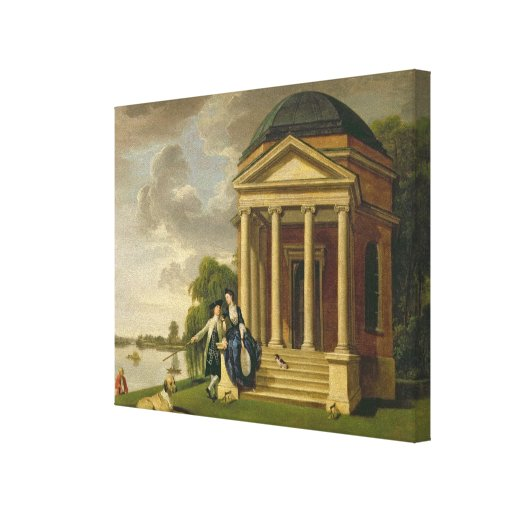 David Garrick (1717-79) and his Wife by his Temple Gallery Wrap Canvas