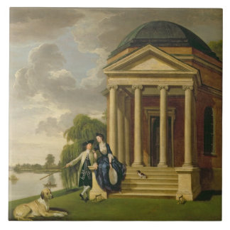 David Garrick (1717-79) and his Wife by his Temple Ceramic Tile