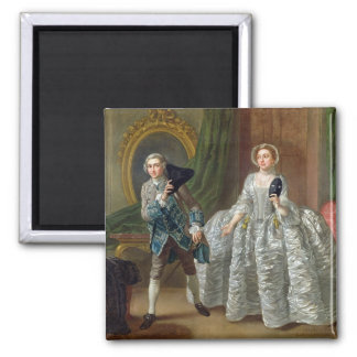 David Garrick and Mrs Pritchard in 'The Suspicious 2 Inch Square Magnet