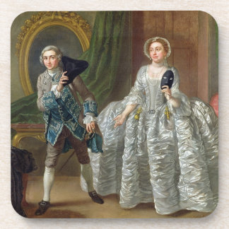 David Garrick and Mrs Pritchard in 'The Suspicious Drink Coaster
