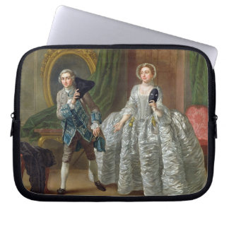 David Garrick and Mrs Pritchard in 'The Suspicious Laptop Sleeve