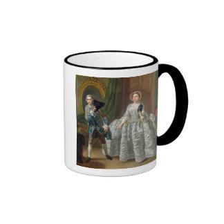David Garrick and Mrs Pritchard in 'The Suspicious Ringer Coffee Mug