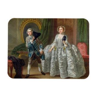 David Garrick and Mrs Pritchard in 'The Suspicious Rectangular Photo Magnet