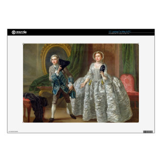 David Garrick and Mrs Pritchard in 'The Suspicious Skins For Laptops