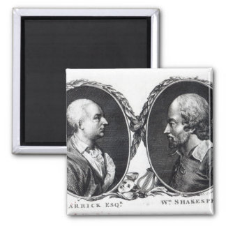 David Garrick and Shakespeare 2 Inch Square Magnet