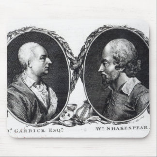 David Garrick and Shakespeare Mouse Pad