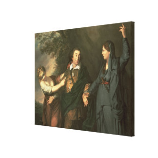 David Garrick  between the Muses of Tragedy Canvas Print