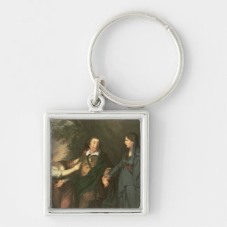David Garrick  between the Muses of Tragedy Keychain