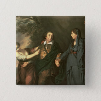 David Garrick  between the Muses of Tragedy Pinback Button
