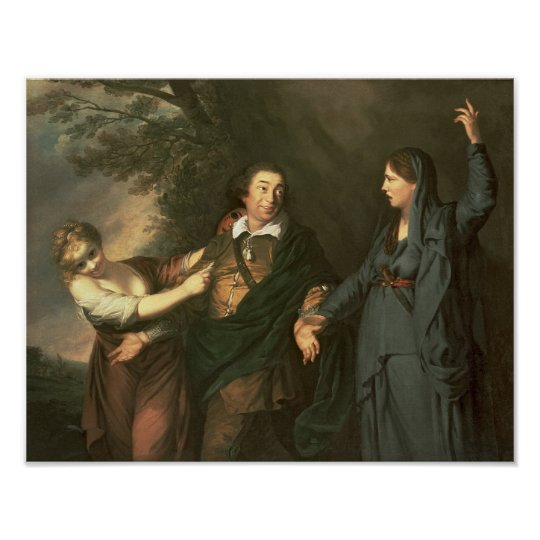 David Garrick  between the Muses of Tragedy Poster