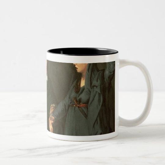 David Garrick  between the Muses of Tragedy Two-Tone Coffee Mug