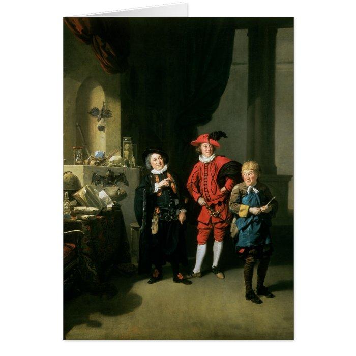 David Garrick with William Burton and John Card