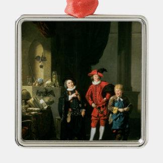 David Garrick with William Burton and John Metal Ornament
