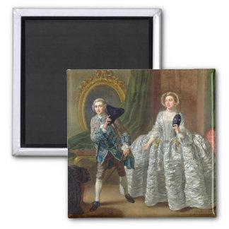 David Garrick y señora Pritchard en 'el sospechoso Imán Cuadrado