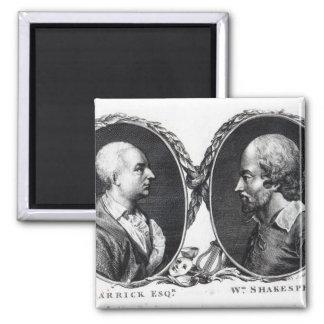 David Garrick y Shakespeare Imán Para Frigorífico