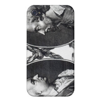 David Garrick y Shakespeare iPhone 4 Carcasa