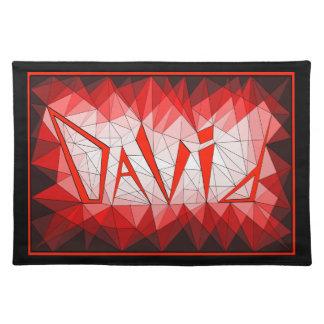 David Gemstone Jewel Name Placemat