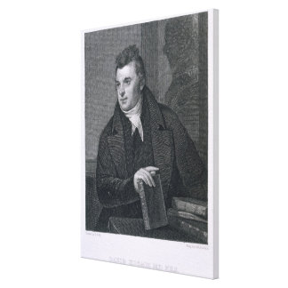 David Hosack, engraved by Asher Brown Durand (1796 Canvas Print