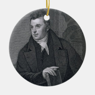 David Hosack, engraved by Asher Brown Durand (1796 Ceramic Ornament