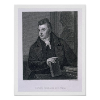 David Hosack, engraved by Asher Brown Durand (1796 Poster