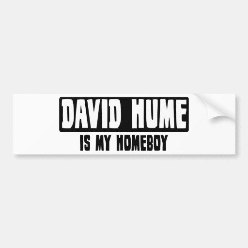David Hume es mi Homeboy Pegatina De Parachoque
