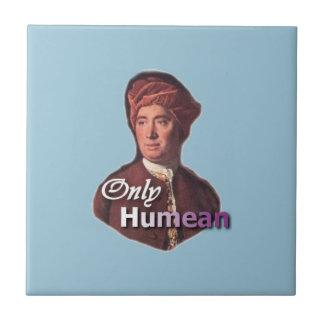 """David Hume """"solamente Humean """" Azulejo Cuadrado Pequeño"""