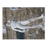 David in the Piazza della Signoria, Florence Postcard