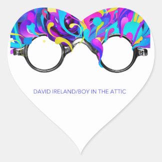 David Ireland/Boy In The Attic Official Merchadise Heart Sticker