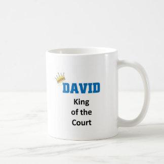 David king of the court coffee mug