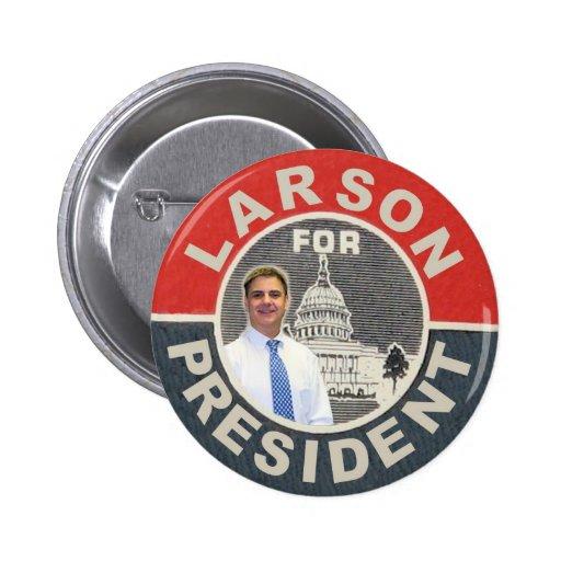 David Larson para el presidente 2012 Pin