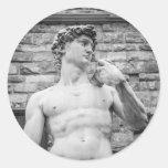 David (Michelangelo) Classic Round Sticker
