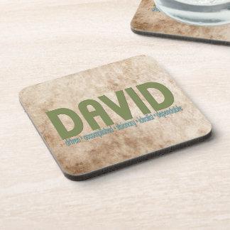 { David } Name Meaning Coaster Set