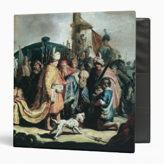 David Offering the Head of Goliath to King Saul 3 Ring Binder