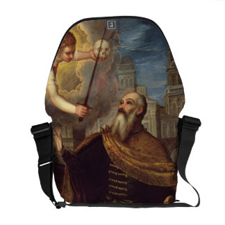 David (oil on panel) courier bag
