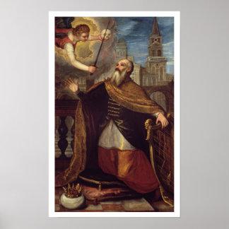 David (oil on panel) poster