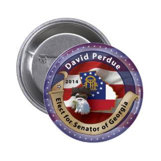 David Perdue Pinback Button