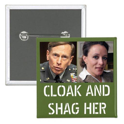 David Petraeus: Capa y pelusa ella Pin Cuadrado