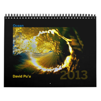 David Pu'u 2013 Calendar: Ocean Calendar