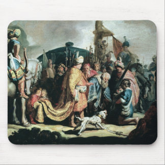 David que ofrece la cabeza de Goliat a rey Saul Tapetes De Ratón