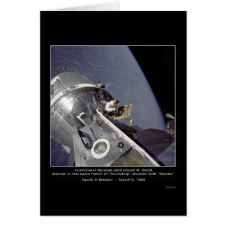 """David R. Scott misión de Apolo 9 de la """"araña"""" - Tarjeta De Felicitación"""