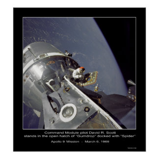 "David R. Scott  ""Spider"" - Apollo 9 Mission Poster"