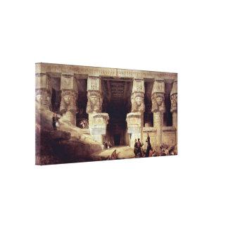 David Roberts - el templo de Dendera Impresiones En Lona Estiradas