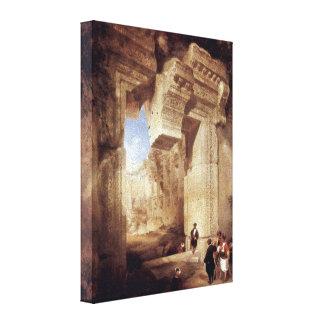 David Roberts - entrada al templo de oro Lona Envuelta Para Galerias